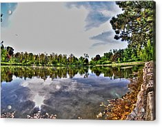 002 Reflecting At Forest Lawn Acrylic Print by Michael Frank Jr