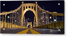 0304 Roberto Clemente Bridge Pittsburgh Acrylic Print by Steve Sturgill