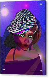 049 - She Came At Midnight  Acrylic Print by Irmgard Schoendorf Welch