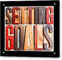 Setting Goals Acrylic Print by Donald  Erickson