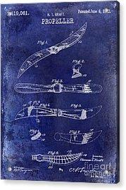 1922 Propeller Patent Drawing Acrylic Print by Jon Neidert