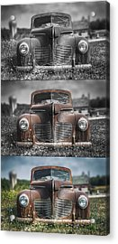 1940 Desoto Deluxe Triptych Acrylic Print by Scott Norris