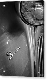 1940 Packard Super Eight One-eighty Darrin Convertible Sedan Headlight Emblem Acrylic Print by Jill Reger