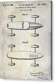 1940 Toy Car Patent Drawing Acrylic Print by Jon Neidert