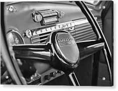 1950 Chevrolet 3100 Pickup Truck Steering Wheel Acrylic Print by Jill Reger