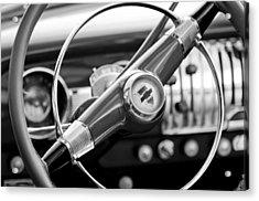 1951 Chevrolet Convertible Steering Wheel Acrylic Print by Jill Reger