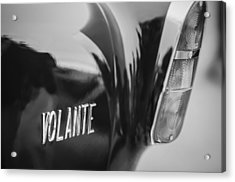 1956 Aston Martin Short Chassis Volante Taillight Emblem Acrylic Print by Jill Reger