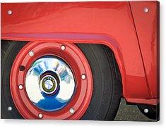1958 Bmw Isetta 300 Wheel Emblem Acrylic Print by Jill Reger