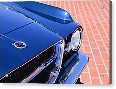 1962 Ghia L6.4 Coupe Grille Emblem Acrylic Print by Jill Reger