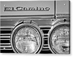 1967 Chevrolet El Camino Pickup Truck Headlight Emblem Acrylic Print by Jill Reger