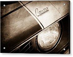 1969 Chevrolet Camaro Z-28 Emblem Acrylic Print by Jill Reger