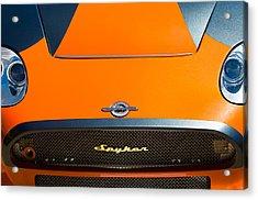 2009 Spyker C8 Laviolette Lm85 Grille Emblem Acrylic Print by Jill Reger