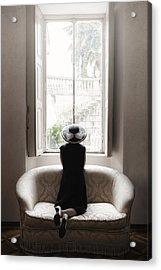 40s Lady Acrylic Print by Joana Kruse