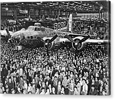5,000th Boeing B-17 Built Acrylic Print by Underwood Archives