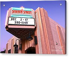 7th Street Theatre - Chino Ca Acrylic Print by Gregory Dyer