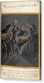 A Group Of Musicians Acrylic Print by British Library