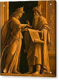 A Sibyl And A Prophet Acrylic Print by Andrea Mantegna