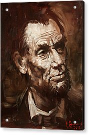 Abraham Lincoln Acrylic Print by Ylli Haruni
