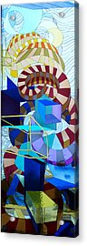 Abstract Art Stained Glass Acrylic Print by Mountain Dreams