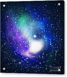 Abstract Galaxy Acrylic Print by Atiketta Sangasaeng