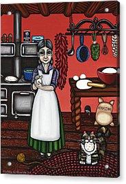 Abuelita Or Grandma Acrylic Print by Victoria De Almeida
