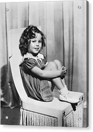 Actress Shirley Temple Acrylic Print by Underwood Archives