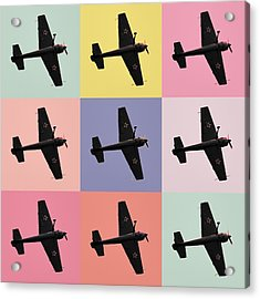 Aerobatics Plane Acrylic Print by Toppart Sweden