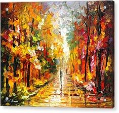 After The Rain Acrylic Print by Leonid Afremov