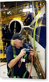 Aircraft Modification Acrylic Print by Jim West