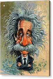 Albert Einstein Acrylic Print by Art