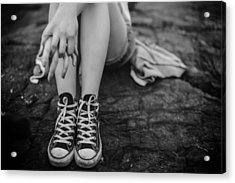 All Star Converse Acrylic Print by Mountain Dreams