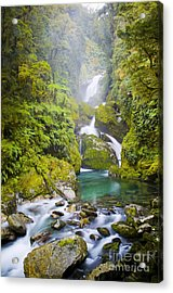 Amazing Waterfall Acrylic Print by Tim Hester