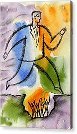 Ambition Acrylic Print by Leon Zernitsky