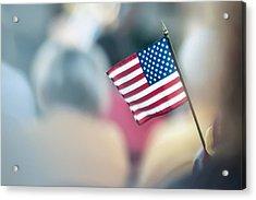 American Flag Acrylic Print by Alex Grichenko
