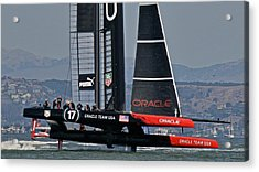 America's Cup Sf Bay Acrylic Print by Steven Lapkin