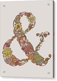 Ampersand Acrylic Print by Valentina