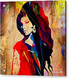 Amy Winehouse Collection Acrylic Print by Marvin Blaine