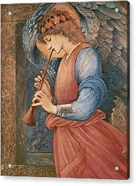 An Angel Playing A Flageolet Acrylic Print by Sir Edward Burne-Jones
