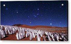 Andean Ice Field At Night Acrylic Print by Babak Tafreshi
