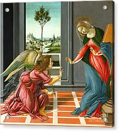 Annunciation Acrylic Print by Sandro Botticelli