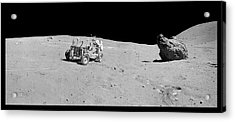 Apollo 16 Lunar Rover Acrylic Print by Nasa/detlev Van Ravenswaay