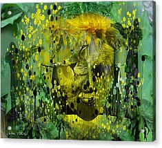Attacking The Dande-lion Acrylic Print by Sabine Stetson
