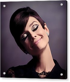 Audrey Hepburn Acrylic Print by Mountain Dreams
