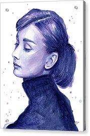 Audrey Hepburn Portrait Acrylic Print by Olga Shvartsur
