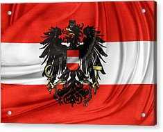 Austrian Flag Acrylic Print by Les Cunliffe