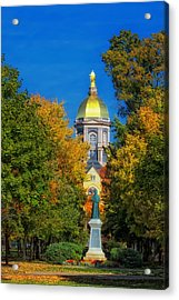 Autumn On The Campus Of Notre Dame Acrylic Print by Mountain Dreams