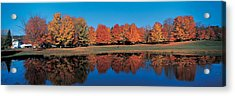 Autumn Trees Laurentide Quebec Canada Acrylic Print by Panoramic Images