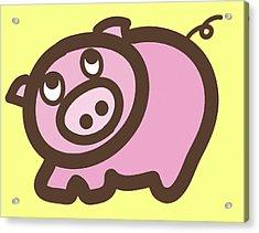 Baby Pig Art For The Nursery Acrylic Print by Nursery Art