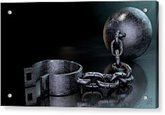 Ball And Chain Dark Acrylic Print by Allan Swart