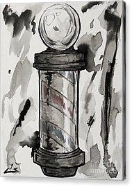 Barber Pole Acrylic Print by Chuck Styles